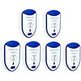CHBeautyu Ultrasonic Pest Repeller, Pest Reject, Pest Control Non Toxic Humans Pets Safe Solution for Mosquitoes, Mice, Cockroaches, Rats, Bed Bugs, Spider(6 Pack) (ABS)