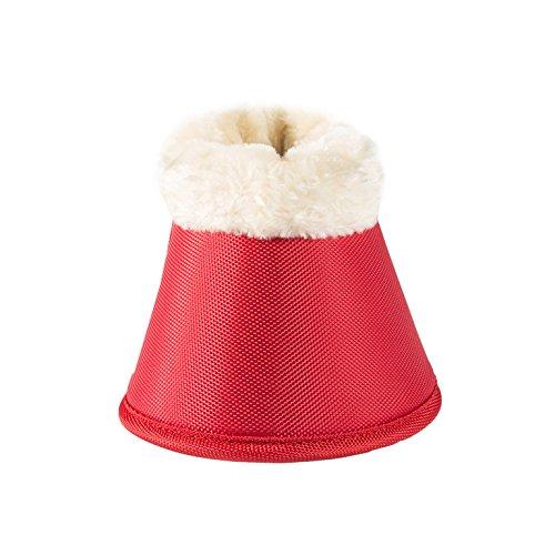 Horze Quintus Comfort Fleece ProTec Bell Boots Fiery Red Large