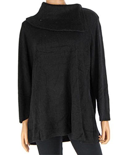 ann-taylor-loft-womens-black-asymmetrical-cowl-neck-sweater-s-m-l-xl-xxl-medium
