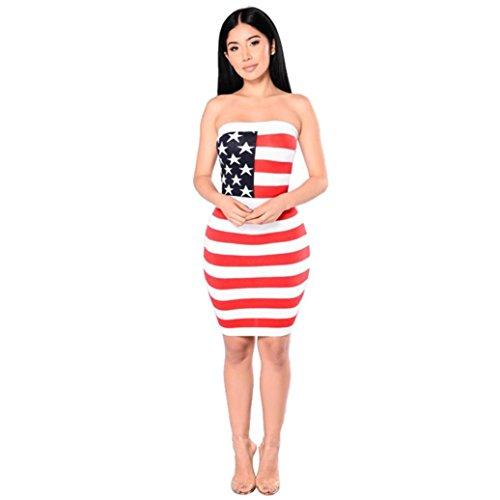 Kleid Transer® Damen Flagge Muster Kleider Draußen Drinnen Polyester ...