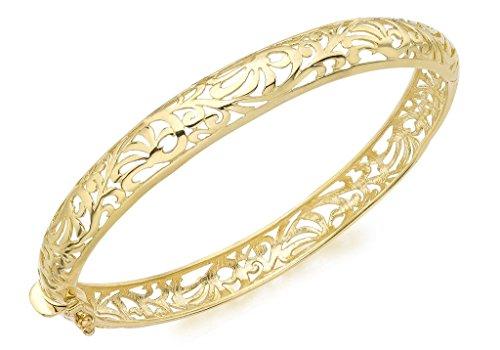 Bracelet Jonc or jaune 9carats de style Art nouveau