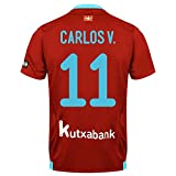 Real Sociedad Away Carlos V. Jersey 2017 / 2018 (Fan Style Printing) - S