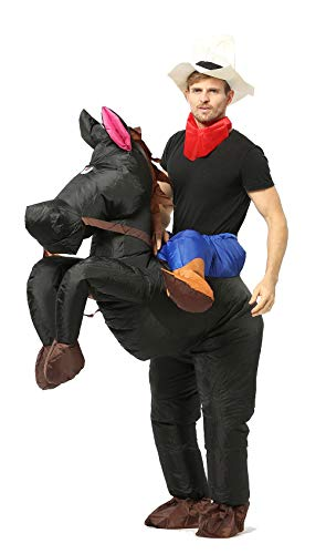 GOPRIME Riding Inflatable Costumes (Horse Black)]()