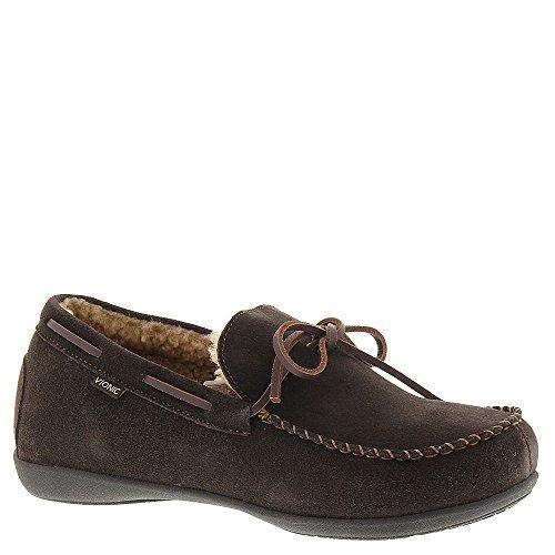 Vionic Dewey Mens Indooroutdoor slipper moccasin Brown - 10