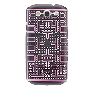 GDW Caso duro del patrón del laberinto con estilo para Samsung Galaxy S3 I9300