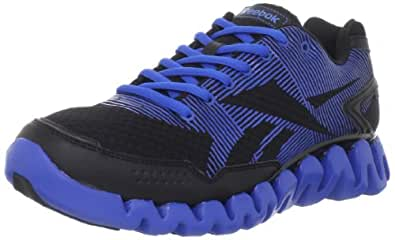 Reebok Men's ZigRhythm Running Shoe,Black/Frenchy Blue,10 M US