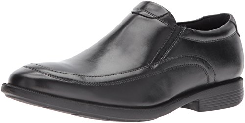 Nunn Bush Men Dylan Moc Toe Slip On Loafer with KORE Comfort Walking Technology, Black, ()