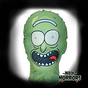Pickle Rick - Halloween Costume -Cosplay -Rick and Morty Parody Full Head Mask & Pickle Rick - Halloween Costume -Cosplay -Rick and Morty Parody Full ...