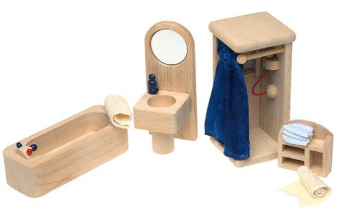 Small World Toys Ryan's Room Wooden Dollhouse - Bathtime and Bubbles Bathroom (Room Ryans Toys World Small)