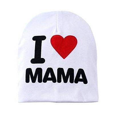 "A-goo Lettre anglaise créative ""I love papa / maman"" bonnet en tricot bébé (mama blanc)"