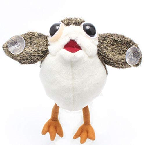 Stuffed & Plush Animals - The Last Jedi PORG Plush Toys Peluche Doll On Board Figure Suction Cup Plush 22cm - Toy Bird Soft Hooks Small Charger Boards