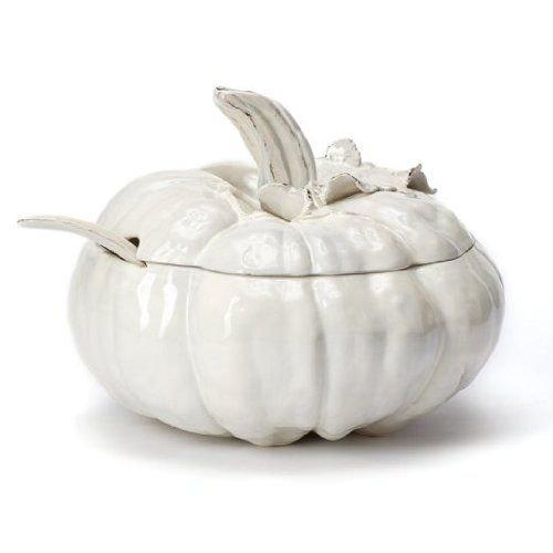 Vietri Natura Pumpkin Soup Tureen With Ladle