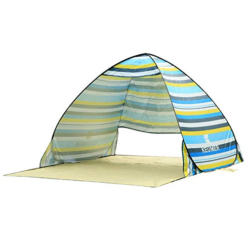 CHUSHENG Automatic Beach Tent, Waterproof Sunscreen Fabric, Circulating Breathable, Extended Floor Mat, Front and Rear Ventilation Design, Easy to Fold (150(120+60) 110Cm),8
