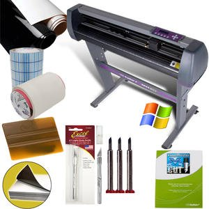 28-inch Vinyl Cutter Value Sign Making Bundle with Design and Cut Software - Cutting Signs, - System Cutting Magnetic
