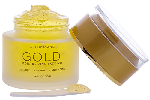 Price comparison product image 24K Gold Foil Anti Aging Moisturizer Cream Packed with Age Defying Retinol, Vitamin C, Amino Acids and More for Face, Eyes and Neck 1.6 ounce (50 grams)