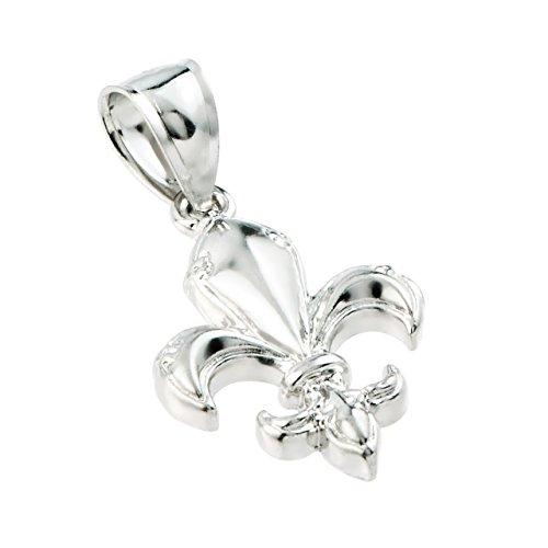 (925 Sterling Silver Fleur-de-Lis Charm Pendant)