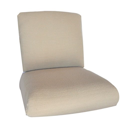 CushyChic Outdoors Terry Slipcovers for Deep Seat Patio Cushions, 2 Piece in Sand - Slipcovers Only - Cushion Inserts NOT ()
