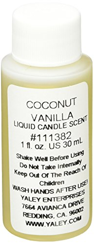 - Yaley Liquid Candle Scent 1oz Bottle-Coconut Vanilla