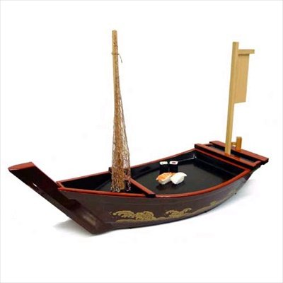 JapanBargain S-1588, Plastic Lacquer Sushi Boat Serving Plate, 26.5'' L