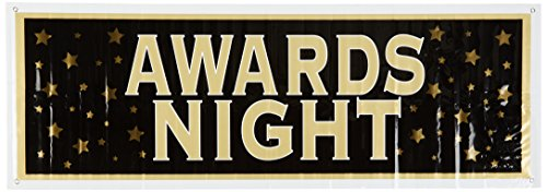 [Awards Night Sign Banner Party Accessory (1 count) (1/Pkg)] (Hollywood Celebrities Halloween Costumes)