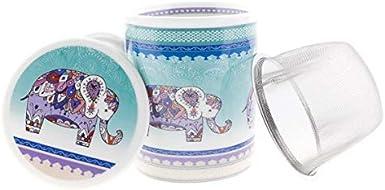 Aromas de Té - Tisanera Elefante de India - Taza de Té con Filtro ...