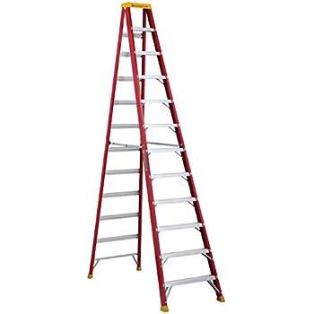 Louisville Ladder L-3016-12 Fiberglass Step Ladder, 12 Feet, 300 Pound Duty Rating