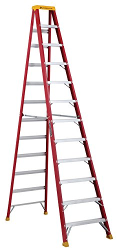 Louisville Ladder 12-Foot Fiberglass Step Ladder, 300-Pound Capacity, Type IA, L-3016-12