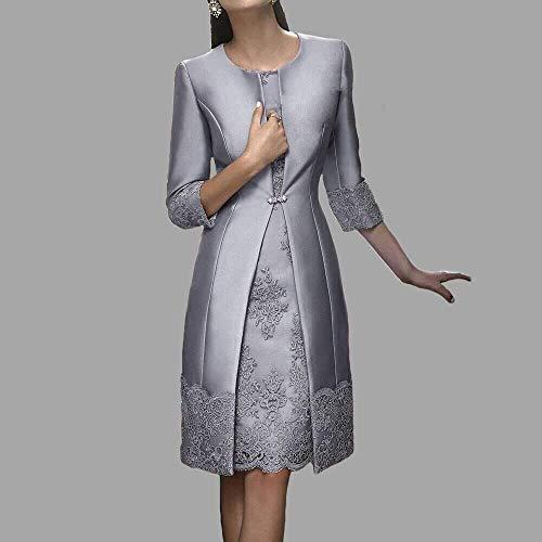 Due pezzi Donne Pizzo Abiti da ballo con giacca pizzo Corto Vestito da sera  Madre di abito sposa  Amazon.it  Abbigliamento 04df961dc46