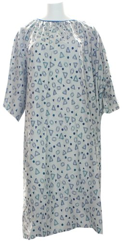 IV Hospital Gown 5x - Teal - Snaps on the Sholders (Geo G...