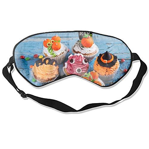 Comfortable Sleep Eyes Masks Halloween Cupcake Sleeping Mask For Travelling, Night Noon Nap, Mediation Or Yoga