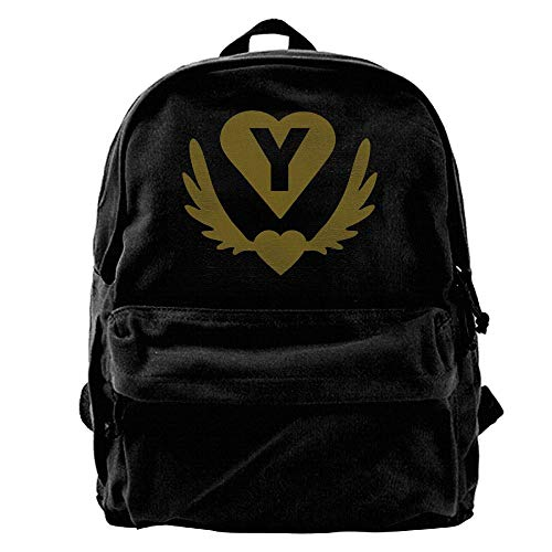 Y Winged Heart Heart Outdoor Backpack School Bags Travel Backpack Canvas Christmas Backpack Unisex Boys And Girls (Winged Heart Handbag)