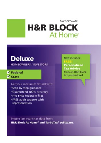 H&R Block At Home Deluxe + State 2012 for Mac [Download]