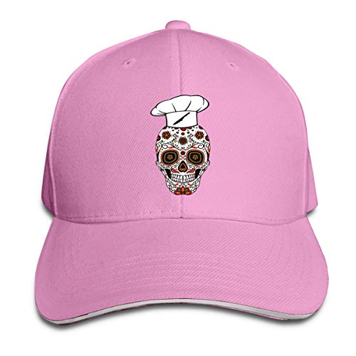 - Sugar Skull Chef Unisex Hats Trucker Hats Dad Baseball Hats Driver Cap Pink