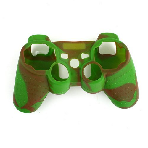 DHT Camouflage Silicone Cover Case Skin for Ps3 Controller Green with Coffee (Ps3 For Camo Skin)