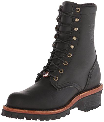 Chippewa Men's 8 Inch Rugged Boot,Black,10.5 D US - 8' Mens Steel Toe Boot