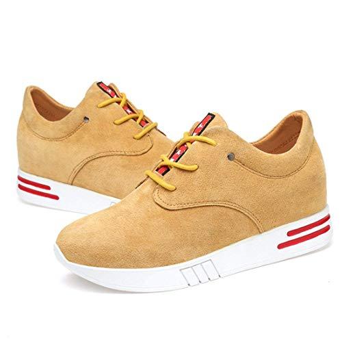 Giallo Per Donna Qiusa Sneaker Dimensione colore Traspirante Giallo Da Con 6 Platform Uk E Nascosta qq6FA