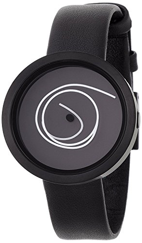 Nava Design Black Ora Unica 42 MM Wrist Watch w/ Leather Band (O401N)