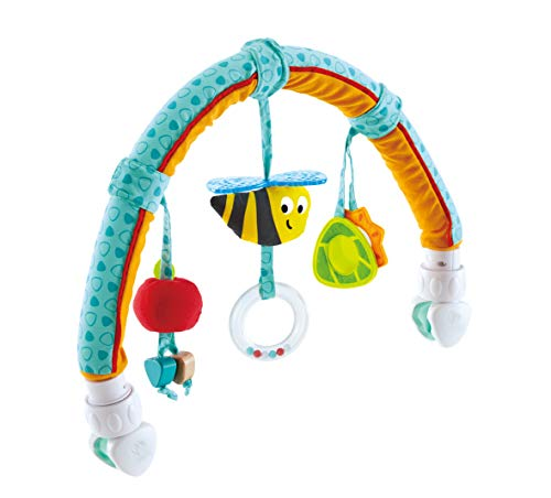 Hape Baby Travel Play Arch Stroller/Crib Accessory, Garden Animals Toy Bee and Pram Activity Bar