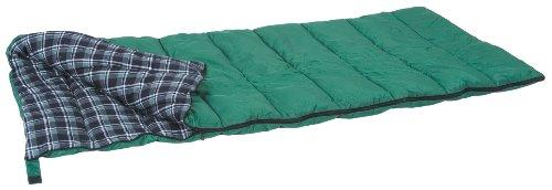 Stansport Weekender Rectangular Sleeping Bag (Green Plaid, 45-Degree), Outdoor Stuffs