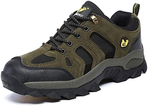 登山靴 メンズシューズ メンズ カジュアル 旅行 運動 ダークグリーン 中年 防滑 厚い底 トレーニング アウトドアシューズ ウォーキングシューズ 26.5cm 通気 クライミングシューズ 四季通用 快適 耐摩耗 男女兼用 滑り止め 紐 山登り