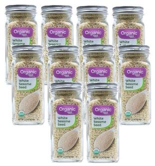 Great Value Organic White Sesame Seeds, 2.2 oz, 2 Count (Pack of 5) by Great Value