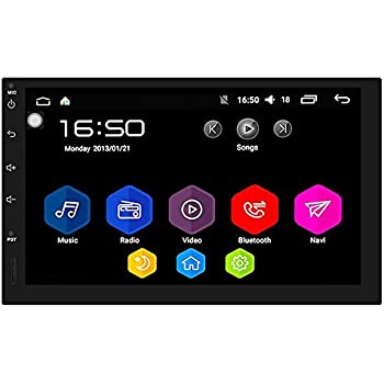 7 Inch Double Din 2G + 16G Car Stereo Android Quad Core RAM GPS Navigation Head Unit Audio Radio 1080P Video Player Built in Wi-Fi BT AM/FM/RDS SWC (no DVD ...