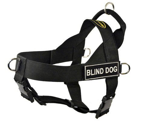 Dean & Tyler D&T UNIVERSAL BLINDDOG BK-XL DT Universal No Pull Dog Harness, Blind Dog, X-Large, Fits Girth, 91cm to 119cm, Black