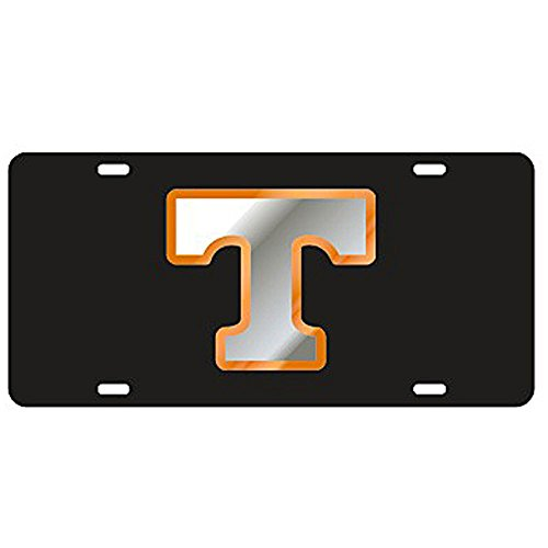 (Tennessee Volunteers Black Laser Cut License Plate)