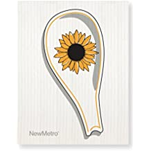 New Metro Design Sunflower Spoon Rest and Cleaning Cloth, Multicolor