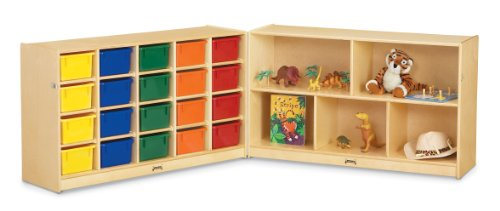 Jonti-Craft 0423JC 20 Cubbie-Tray Fold-n-Lock with Colored Trays