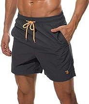 Rdruko Men's Swim Trunks Quick Dry Beach Board Shorts with Poc
