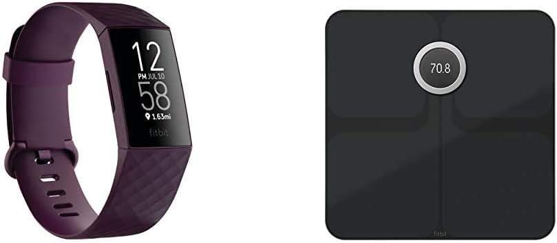 Fitbit Charge4 フィットネストラッカー Rosewood +スマート体重計 Aria2 Blackセット【日本正規品】