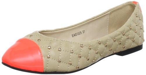 Eas1325 beige Beige Zap Orange Ballerine Sarangani Donna qRBH45