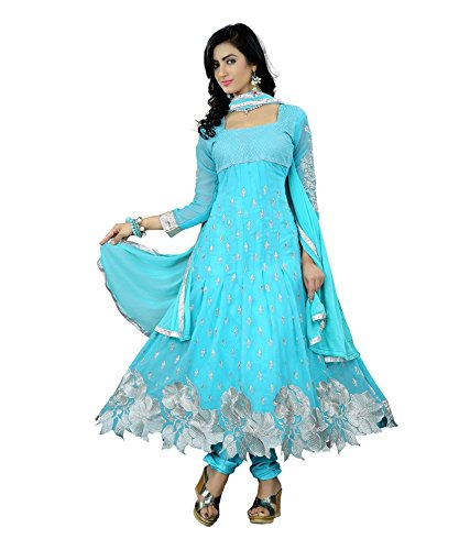 Blue Georgette anarkali